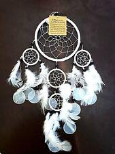 Traumfänger mit Capischeiben weiß Gute Träume Dreamcatcher Indianer Style