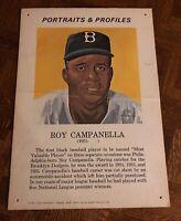 "ROY CAMPANELLA 1970 Portraits & Profiles Display Cards FORTE 13 1/2 "" X 19 1/2"""