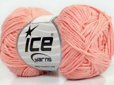 Light Salmon Cotton Bamboo Yarn Ice #41443 Baby / Sport Weight 50 Gram 153 Yards