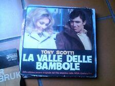 """7"""" OST LA VALLE DELLE BAMBOLE TONY SCOTTI D. PREVIN B/W OME LIVE WITH ME EX/EX+"""