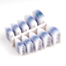 100PCS Sparkle False Plastic Glitter French Nail Tips for Art Design L11
