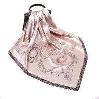 "Women's Fashion Pink Scarf Geometric Print Soft Square Shawl Hijab Wraps 35""*35"""