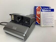 Cámara de película instantánea Polaroid One 600 Vintage Retro Con sin usar 2006 comprimidos en muy buena condición