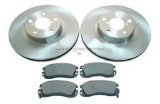 for SUBARU FORESTER LEGACY & TURBO FRONT 2 BRAKE DISCS & PADS (CONFIRM PAD TYPE)
