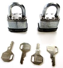 40mm Federal Master Lock Co Padlock #40 Brass Heavy Duty 2 keys 5340014127004