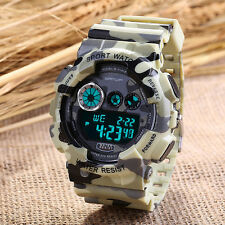 New SANDA Men's Sport Camouflage Military Digital Calendar Alarm Wrist Watch