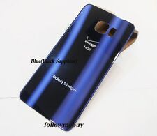 A+ Battery Glass Back Door Cover For Samsung Galaxy S6 edge+ G928V Verizon Blue