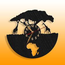 """Africa, Giraffe, Wooden Wall Clock 12""""(30cm), African Animals #57"""