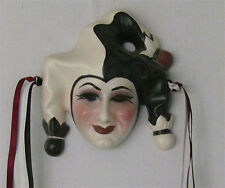 Unique Creations Ceramic Art Deco Med Jester, Clown, Pierrot Mask Wall Hanging