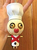 1pc Wooden Voodoo Doll Key Chain Key Ring Accessory Little Cook Chef Souvenirs