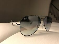 2f914676057 Ray-Ban RB3025 Aviator Black Frame Gray Gradient Lens 62MM Large Sunglasses