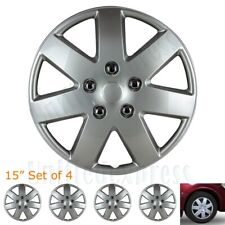 "[Set of 4] Toyota 15"" Snap/Clip-on Wheel Covers Tire Rim Hubcaps Case Silver"