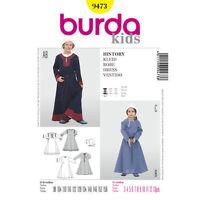 Burda 9473 Sewing Pattern Children's Medieval Dresses Renaissance Costume S 3-13