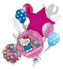 7 pc Hello Kitty & Friends Character Round Balloon Bouquet Happy Birthday Girl