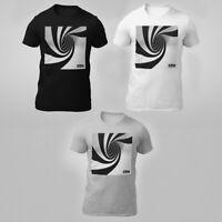 3D Print T Shirt  Optical Illusion shirt Black White Graphic Tee Funny T shirt