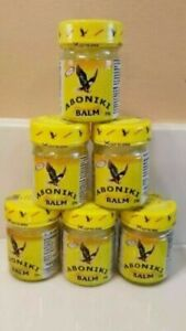 6 x Aboniki Balm  for Muscle Relief and Pain, 25g, Glass | EXP 2023 | Original
