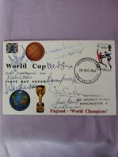 More details for england 1966 world cup first day cover signed by 10 players