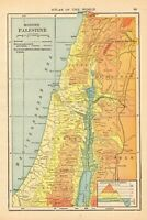 1915 Antique PALESTINE Map Gallery Wall Art Vintage Map of Palestine 7523