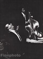 1959/87 GEORGE SHEARING Piano JIMMY BOND Bassist Jazz Art WILLIAM CLAXTON 16x20