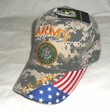 U.S. Army OFFICIALLY LICENSED Embroidered With Seal & Flag Baseball Cap Hat