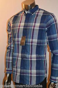 Armani Exchange A X Men's Shirt Plaid Long Sleeve Top cotton I6C014RG Size M