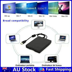 3.5 inch USB Mobile Floppy Disk Drive Portable 1.44MB External Diskette FDD AU
