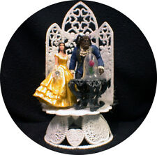 NEWEST Disney Enchanted Rose Beauty and the Beast Wedding Cake Topper  Belle top