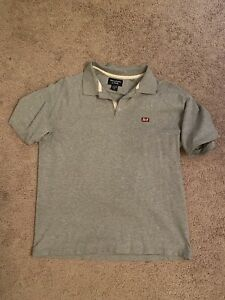 Abercrombie & Fitch Polo Shirt Men's Large Short Sleeve Gray