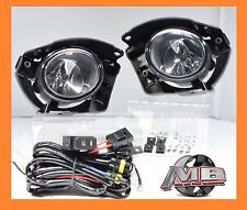 For 2014 2015 2016 2017 Nissan Juke Clear Fog Lights Lamp Wirings+Switch kit