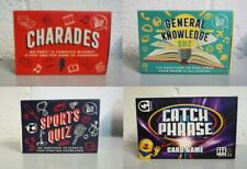 New Catch Phrase Card Game-CHARADES-100Q SPORTS & GENERAL KNOWLWDGE QUIZ-4 Games