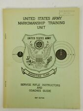 1967 Us Army Marksmanship Training Shooting Team Service Rifle Instructors Guide