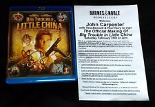 BIG TROUBLE IN LITTLE CHINA Blu-ray SIGNED BY JOHN CARPENTER +FREE SHIP! #Horror