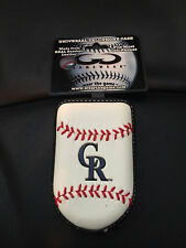 Colorado Rockies Baseball Leather Flip Phone Case
