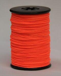 Flo Fluorescent ORANGE BCY Nock & Peep Bow String Serving Bowstring Nylon