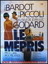 LE MEPRIS Affiche Cinéma / Movie Poster BRIGITTE BARDOT JEAN LUC GODART