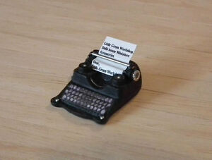 1/12 Dolls House miniature handmade Type Writer office study etc Typewriter LGW