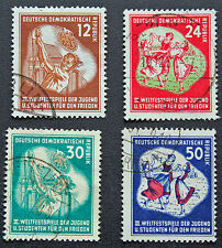 ALLEMAGNE RDA - timbre Yvert et Tellier n°41 à 44 obl - stamp Germany (cyn4)