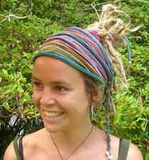 Rainbow Tie Dyed Headwrap Headband Dreadband Head wrap Cotton Tribal Stripes
