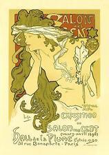 """Art nouveauprint """"salon des cent"""" par Alphonse Mucha"""