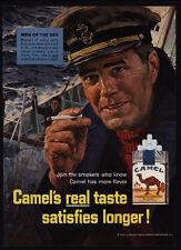 1966 CAMEL Cigarettes - Men Of The Sea - Captain - Sailor - VINTAGE AD