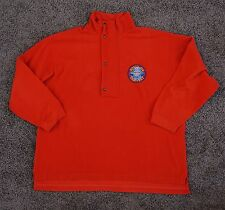Breitling FLEECE jacket ORBITER 2 PULLOVER X-LARGE red/orange USED CONDITION XL