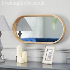 Deep Framed Oblong Oak Wall Mirror 80cm x 40cm