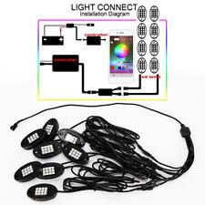 8Pcs Ip68 Waterproof Rc Rgb Led Rock Lights Dc12V 24W Romote Control Portable
