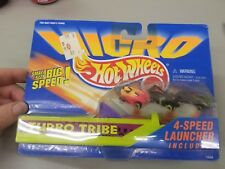 HOT WHEELS MICRO TURBO TRIBE WITH 4 SPEED LAUNCHER 1995