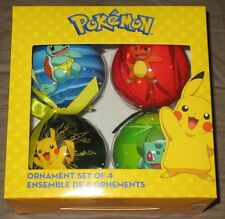 POKEMON Christmas/Holiday Ornament 4-Pack - Official Nintendo/GameStop Exclusive