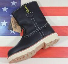 Thorogood Kids Duke Youth Wellington Western Leather Boots Black Cowboy 314-6300