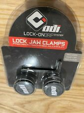 ODI LOCK JAW LOCK-ON CLAMPS SILVER W/ SNAP CAPS FOR BMX-MTB BICYCLE GRIPS D70LJG