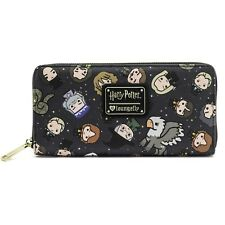 Loungefly Harry Potter Chibi Charcters Faux Leather Zip Clutch Wallet HPWA0013