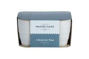 Mason Cash Original Cane Set of 4 Mugs - Cream