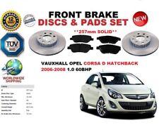 per Vauxhall Opel Corsa D HB 1.0 06-08 SET DISCHI FRENI ANTERIORI + PASTIGLIE
